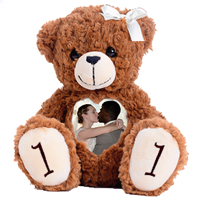 Custom Anniversary Teddy Bear | Personalized Photo Teddy Bears | Voice and Image Gift Bears | Cuddlebuddys
