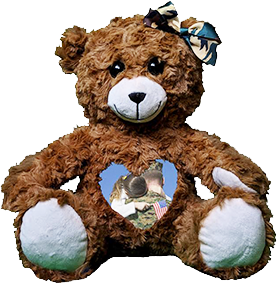 This is an image of a Military Cuddlebuddys bear.