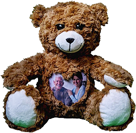 This is an image of a Photo and Audio Cuddlebuddys bear.